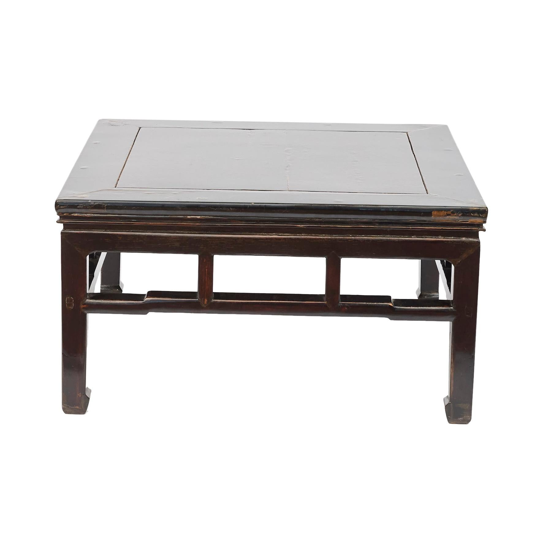 19th Century Chinese Ming Style Coffee Table with Original Lacquer