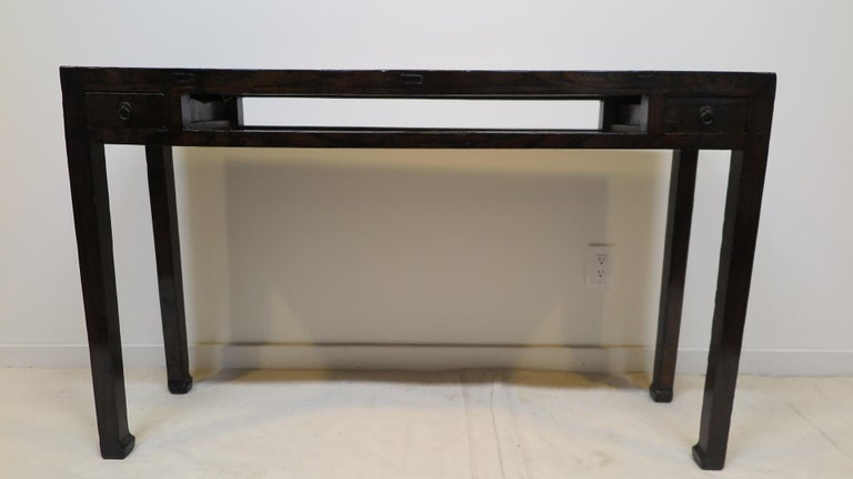 19th Century Chinese Minimal Console Table For Sale 5