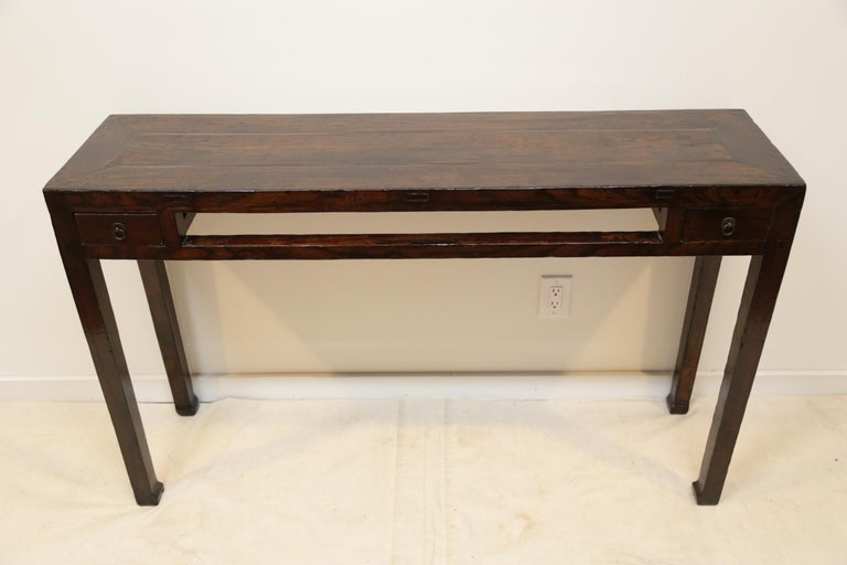 19th Century Chinese Minimal Console Table For Sale 6