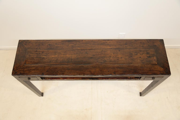 Qing 19th Century Chinese Minimal Console Table For Sale