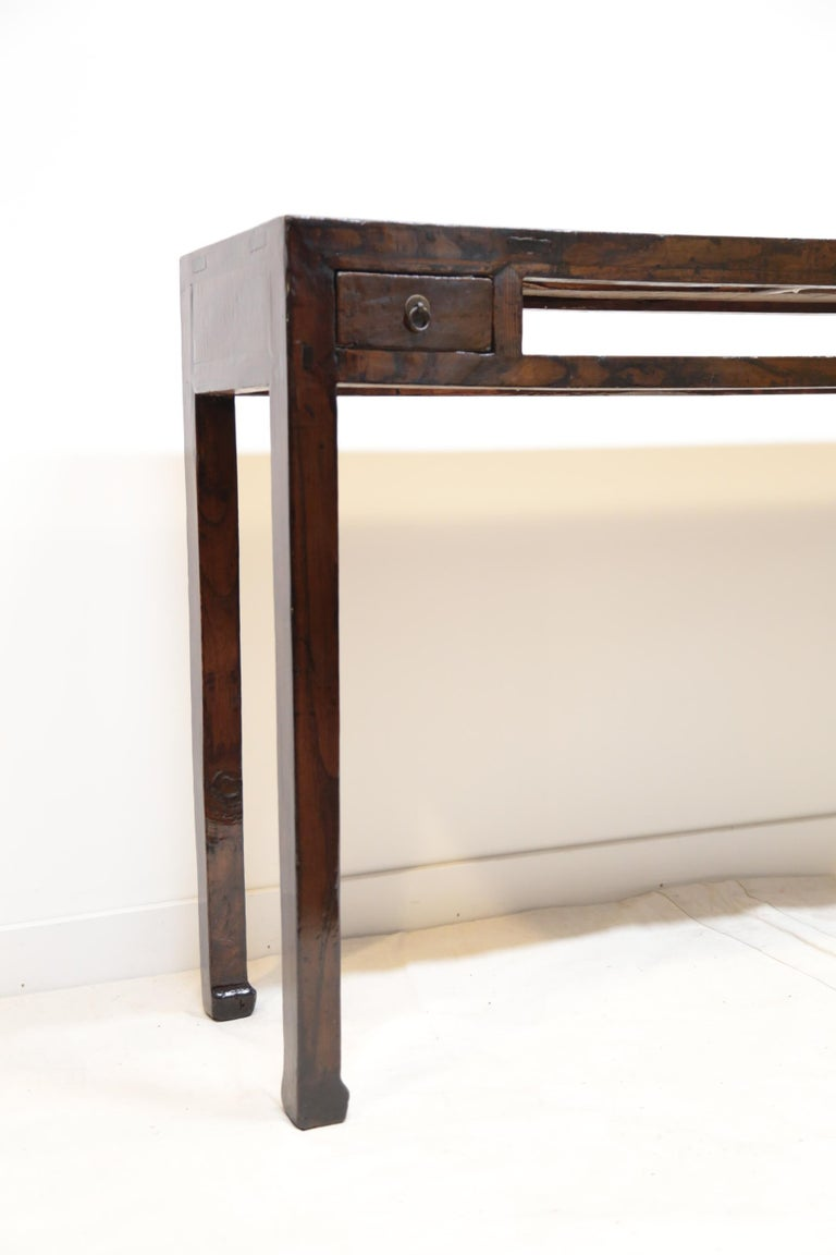 19th Century Chinese Minimal Console Table In Good Condition For Sale In New York, NY