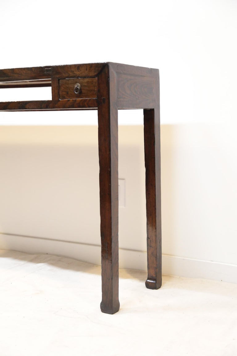 Late 19th Century 19th Century Chinese Minimal Console Table For Sale