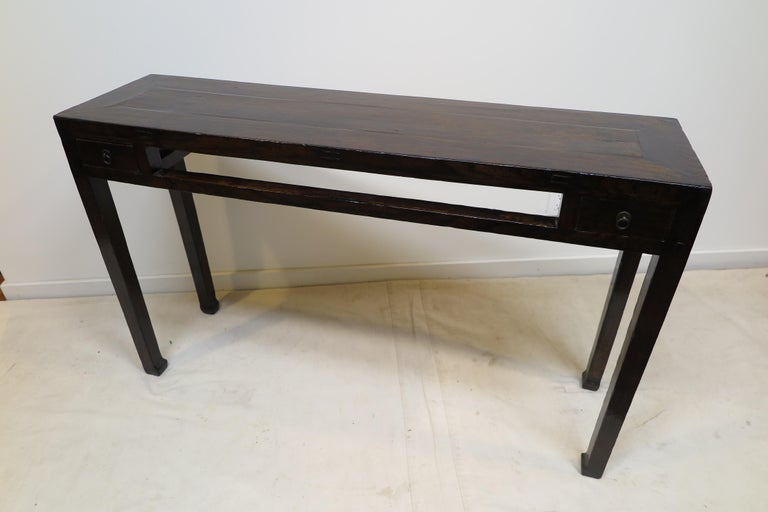 19th Century Chinese Minimal Console Table For Sale 4
