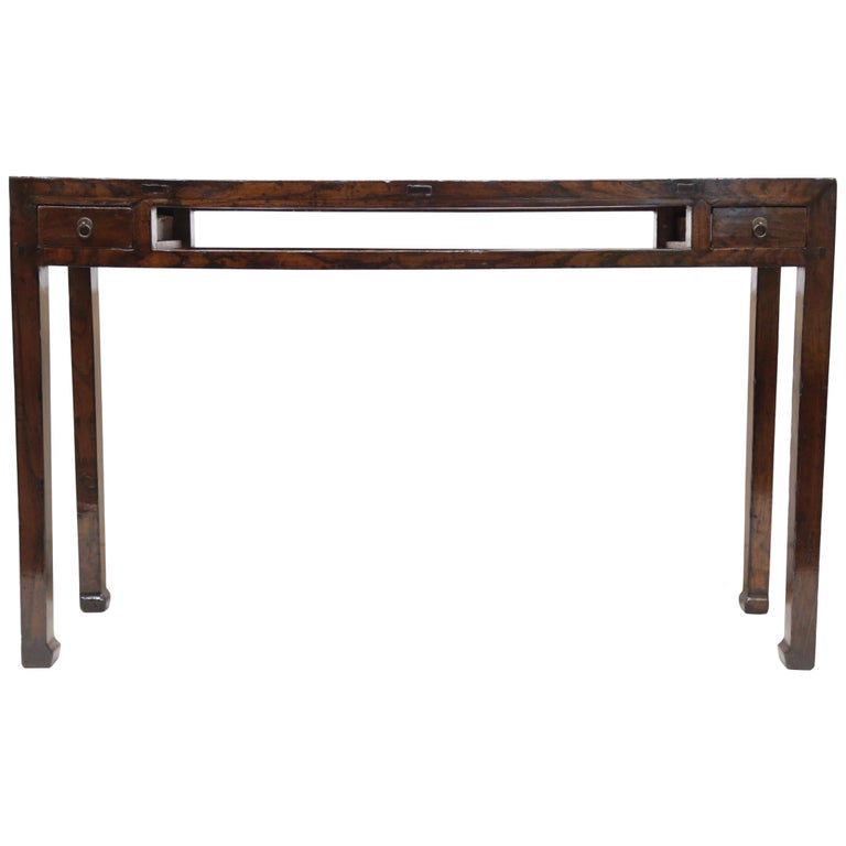 19th Century Chinese Minimal Console Table For Sale