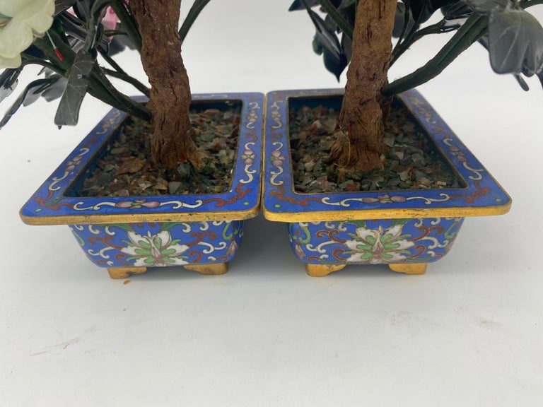 Chinese Multi-Color Bonsai Tree in Cloisonné Pot For Sale 5