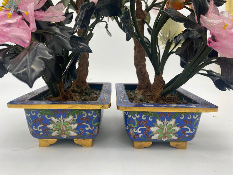 Chinese Multi-Color Bonsai Tree in Cloisonné Pot For Sale 6