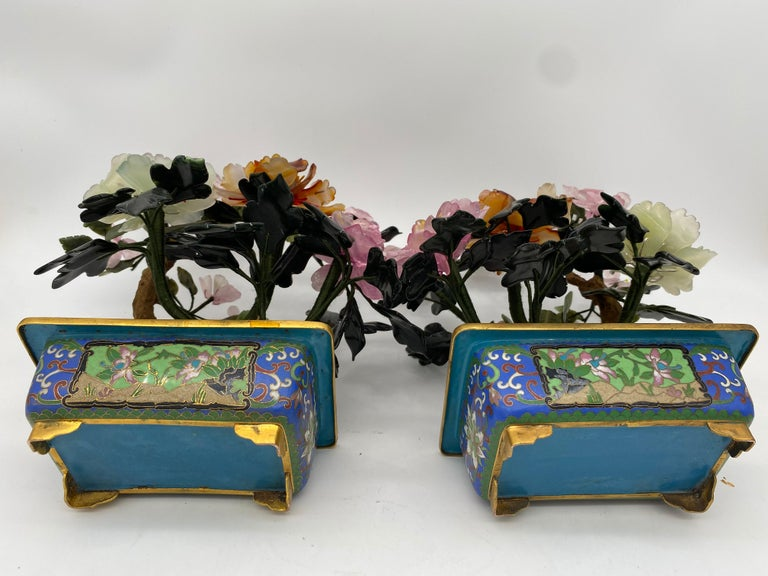 Chinese Multi-Color Bonsai Tree in Cloisonné Pot For Sale 12