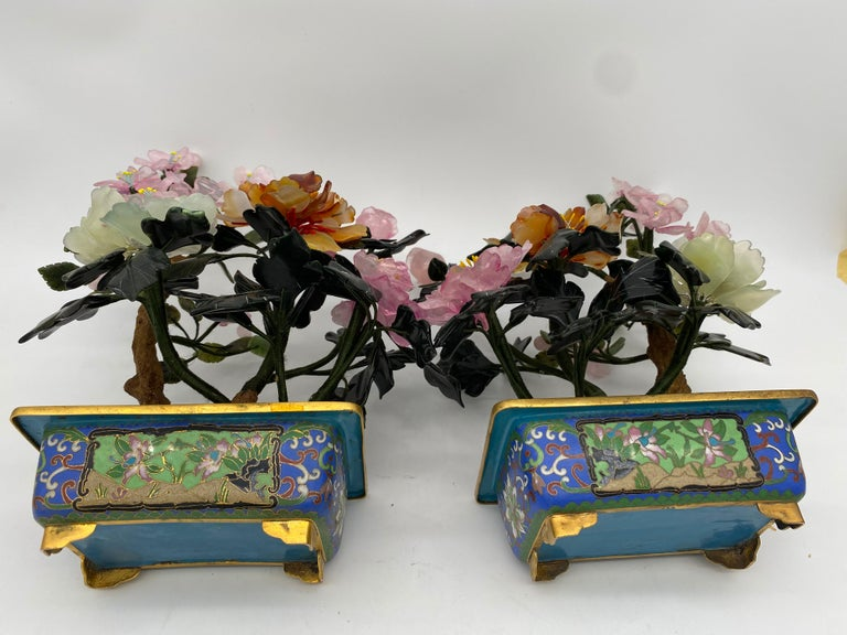 Chinese Multi-Color Bonsai Tree in Cloisonné Pot For Sale 13