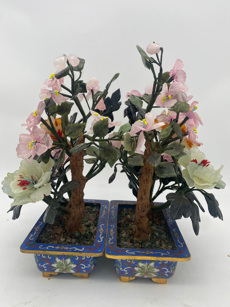 Chinese Multi-Color Bonsai Tree in Cloisonné Pot For Sale 2