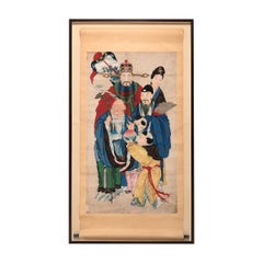 Early 20th Century Chinese New Year Painting