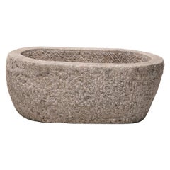 19th Century Chinese Oval Stone Trough