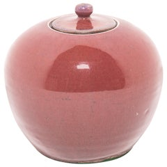 19th Century Chinese Peach Blossom Melon Ginger Jar
