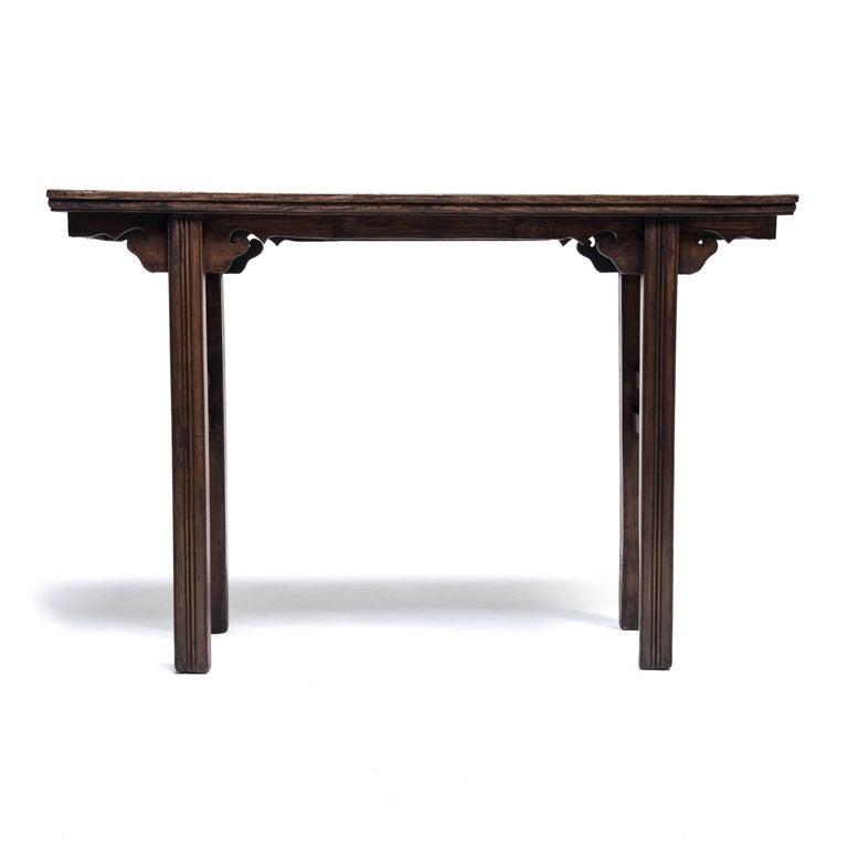 Qing 19th Century Chinese Petite Garden Table For Sale