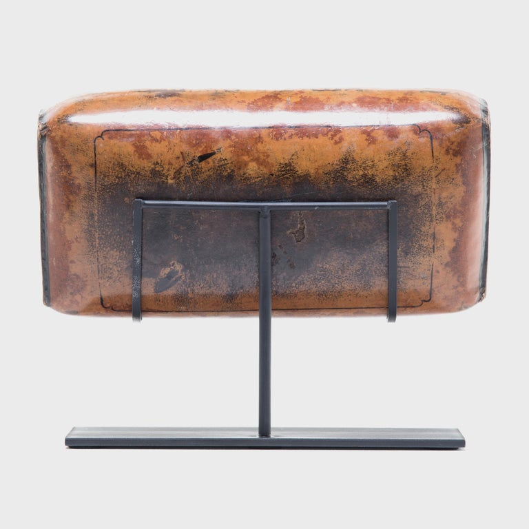 Qing 19th Century Chinese Pressed Lacquered Headrest For Sale
