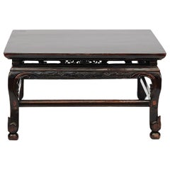 19th Century Chinese Qing Dynasty Coffee Table with Original Lacquer