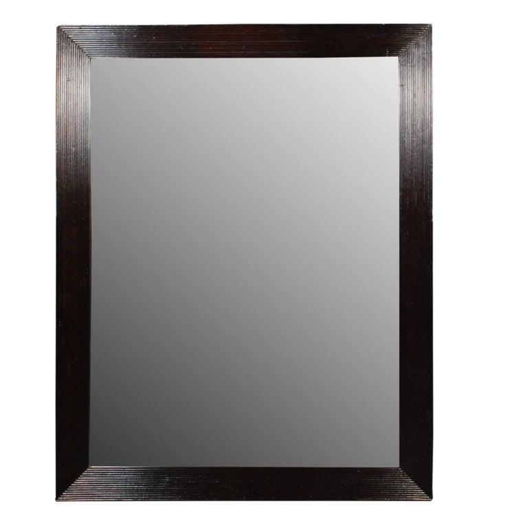 19th Century Chinese Ridge Framed Mirror