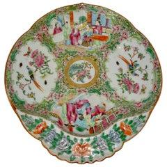 19th Century Chinese Rose Medallion Porcelain Dish