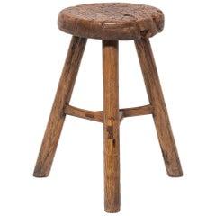 19th Century Chinese Round Tri-Leg Stool