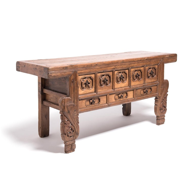 Hand-Carved 19th Century Chinese Ruyi Altar Coffer For Sale