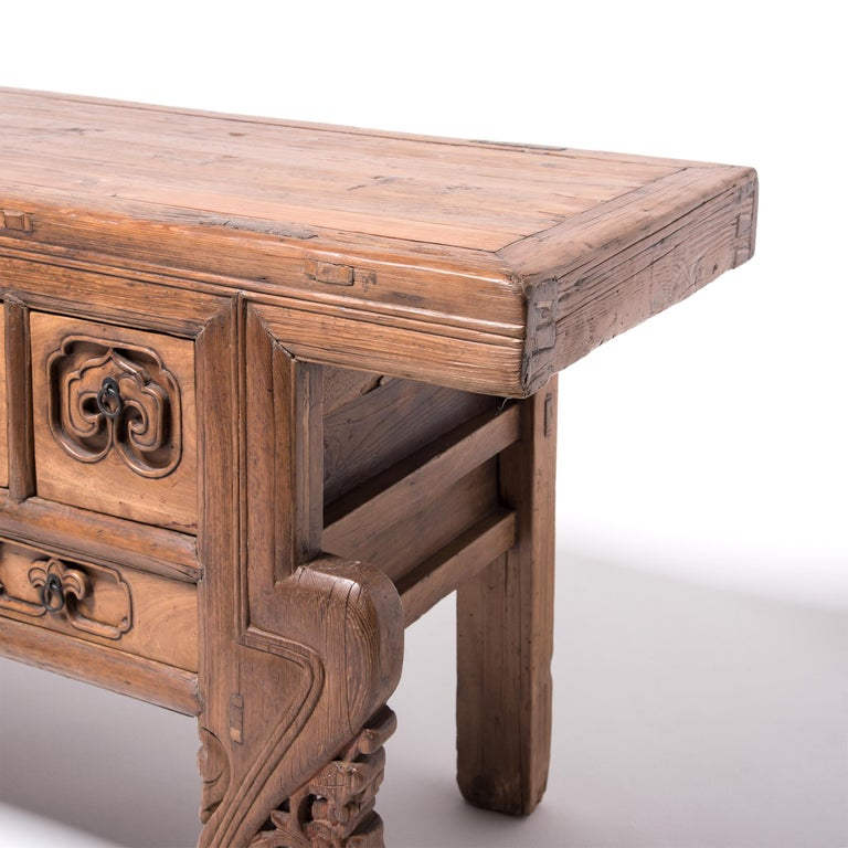 Cypress 19th Century Chinese Ruyi Altar Coffer For Sale