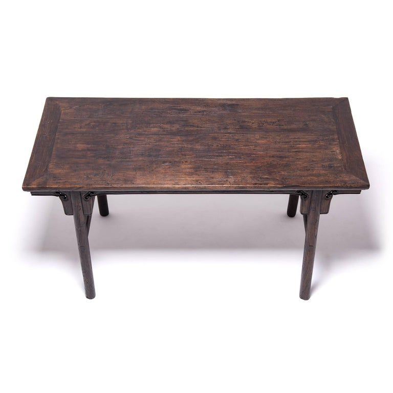 Elm 19th Century Chinese Ruyi Writing Table For Sale