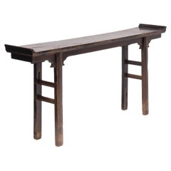 19th Century Chinese Shallow Lacquered Altar Table