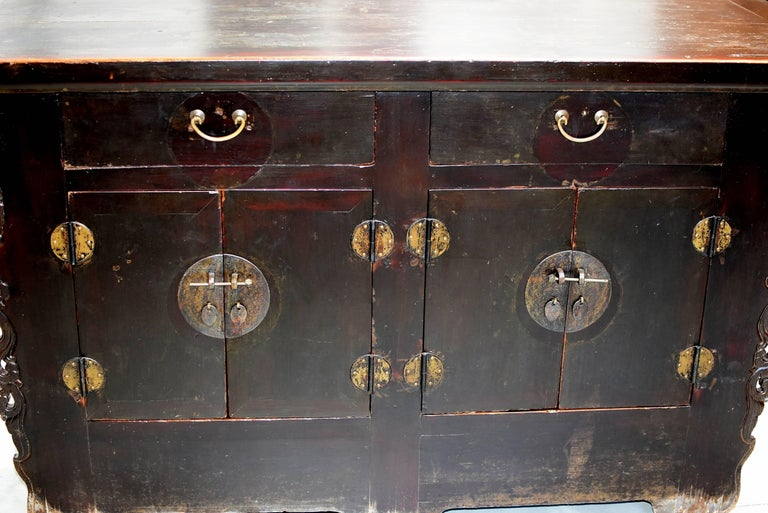 Brass 19th Century Chinese Sideboard Chest For Sale