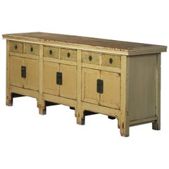 19th Century Chinese Sideboard with Beautiful 'Greenish' Lacquer