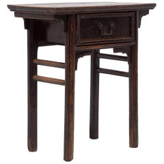 19th Century Chinese Single Drawer Console Table