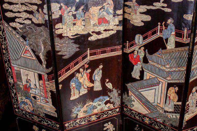 19th Century Chinese Stunning Coromandel Screen For Sale 6