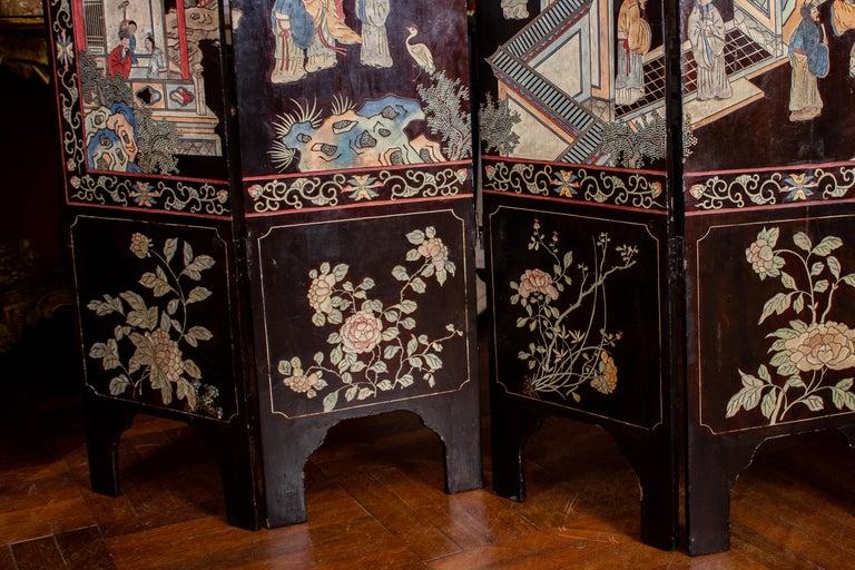 19th Century Chinese Stunning Coromandel Screen For Sale 7