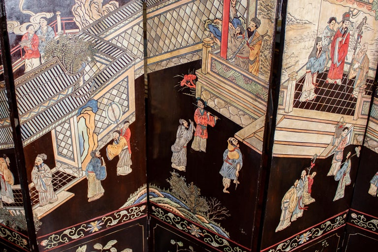 19th Century Chinese Stunning Coromandel Screen For Sale 9