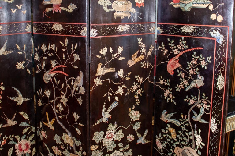 Other 19th Century Chinese Stunning Coromandel Screen For Sale