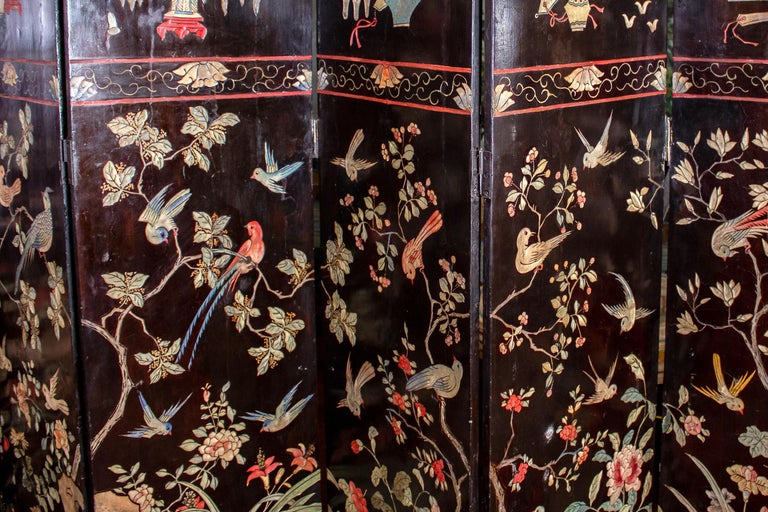 19th Century Chinese Stunning Coromandel Screen For Sale 1