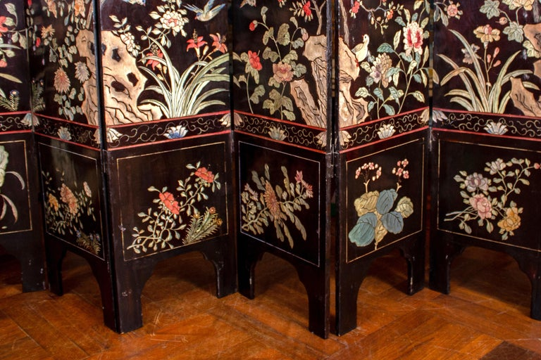 19th Century Chinese Stunning Coromandel Screen For Sale 3