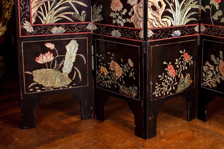 19th Century Chinese Stunning Coromandel Screen For Sale 4
