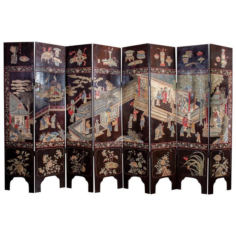 19th Century Chinese Stunning Coromandel Screen For Sale
