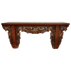 19th Century Chinese-Style Carved Altar Table