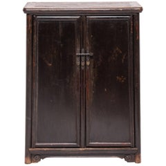 19th Century Chinese Tapered Round Corner Book Cabinet