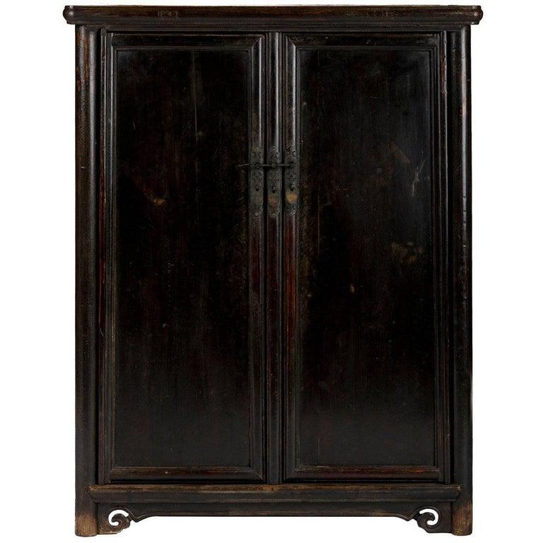 19th Century Chinese Tapered Round Corner Book Cabinet