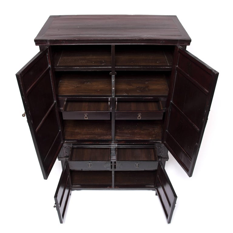 19th Century Chinese Two-Piece Stacking Cabinet For Sale 1