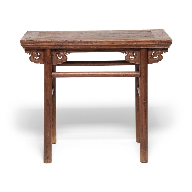 Qing 19th Century Chinese Wine Table with Cloud Spandrels For Sale