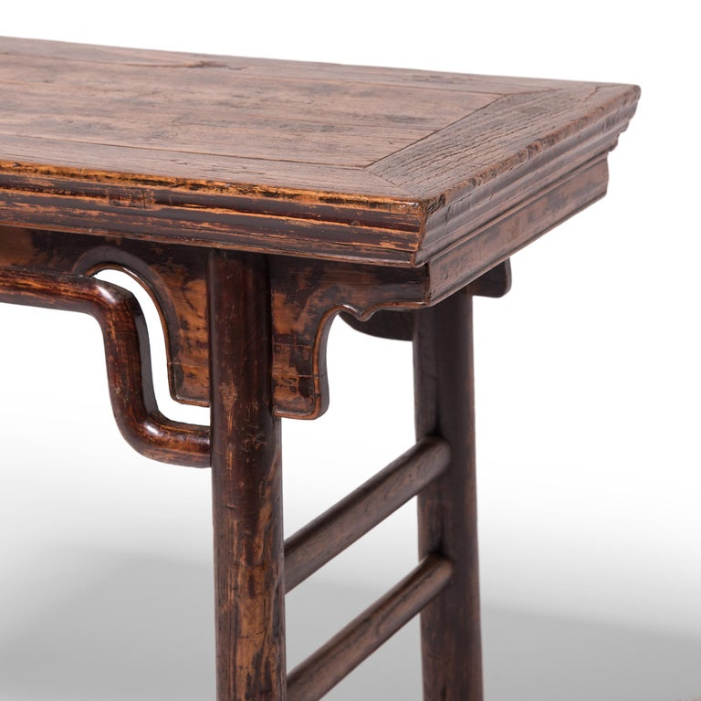 19th Century Chinese Wine Table with Humpback Stretchers For Sale 1