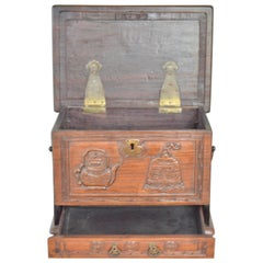 19th Century Chinese Wooden Tea Caddy