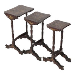 19th Century Chinoiserie Nesting Tables