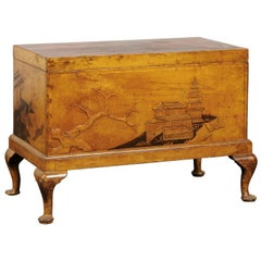 19th Century Chinoiserie Trunk, Mustard