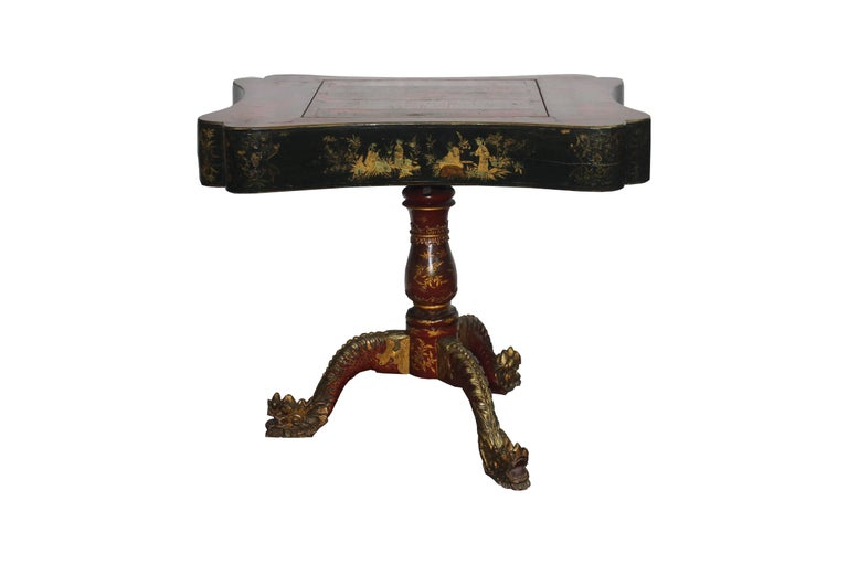 19th Century Chinoiserie Game Table In Good Condition For Sale In Pasadena, CA