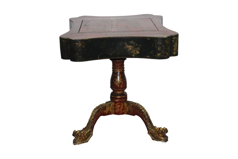 Wood 19th Century Chinoiserie Game Table For Sale