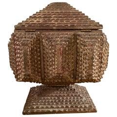 19th Century Chip Carved Tramp Art Box
