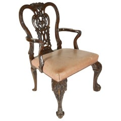 19th Century, Chippendale Influenced Desk Chair